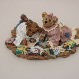 Boyds Bear Accents - Boyds Bear Resin Sam & Jenny Picture Perfect Sampl